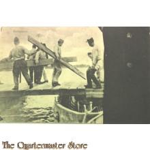 Prent briefkaart 1940 mobilisatie Pontonniers