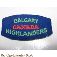Shoulder title Cagary Highlanders of Canada, 2nd Canadian Infantry Division
