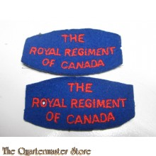 Shoulder titles The Royal Regiment of Canada