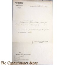 Inschrivings document 29-11-1911 Landstorm Rotterdam