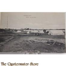 Prent briefkaart 1914 mobilisatie Harskamp , gezicht op het kamp