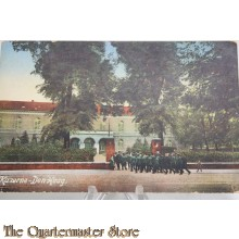 Prent briefkaart 1905 mobilisatie Kazerne Den Haag