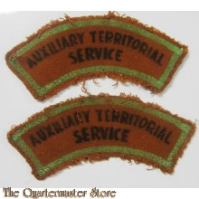 Shoulder titles A.T.S. (Auxiliary Territorial Service)