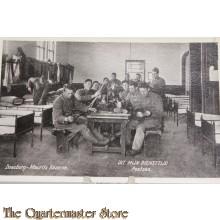 Prent briefkaart 1914 mobilisatie Mauritskazerne Doesburg (Poetsen)