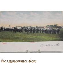 Prent briefkaart 1914 mobilisatie Parade Leiden