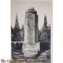 Prent briefkaart 1940 mobilisatie Mausoleum, Grebbe , Rhenen