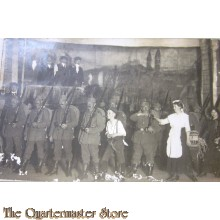 Postkarte (military postcard) 1916 German Marching soldiers on stage