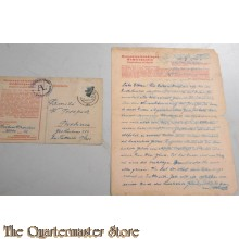 ACHSENHAUSEN WW2 GERMAN CONCENTRATION CAMP KZ LETTER