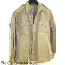 WW2 Us Army Cotton Khaki Summer Chino Shirt 1942