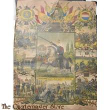 Groot wandplakette 1897 ter herinnering aan mijn diensttijd Huzaar