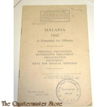 Pamphlet for Officers Malaria 1943