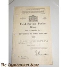 Field Service Pocket book , movement by road and rail