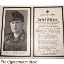 In Memoriam Karte/Death notice gefreiter Gebirgs Jager Regt