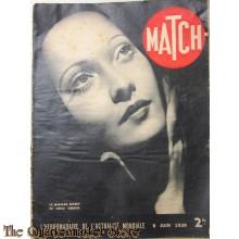 Magazine MATCH 8 juin 1939 Le mariage secret de merle Oberon