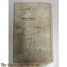 Oorlogzakboekje 41e Regiment Infanterie 3e batt 2e Comp Smak Cornelis
