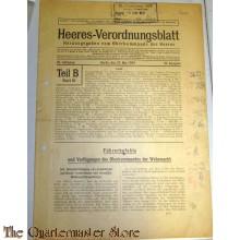 Heeres verondnungs Blatt 27 Mai 1943