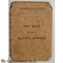 WW1 Paybook for active service Canada