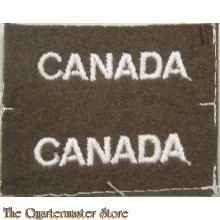 Shoulder titles CANADA (British made)