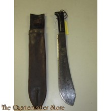 Kapmes met leren schede Canada (Machete with leather scabbard Canada)