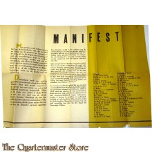 Manifest 1945 Duitsland heeft ons enorme geestelijk en materieele schade berokkend