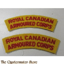 Shoulder flashes Royal Canadian Armoured Corps (post august 1945)