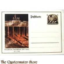 Postkarte Deutschland Deutschland uber alles 30-01-33