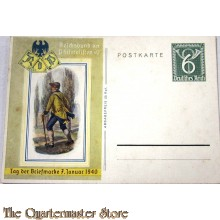 Postkarte Tag der Briefmarke  Jan 7 1940