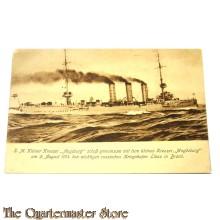 Ansichtskarte 1914 S.M. kleiner kreuzer Augsburg