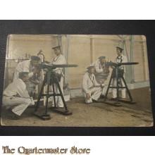 Prent briefkaart 1905 Exercitie met kanonnen van 3,7 cm