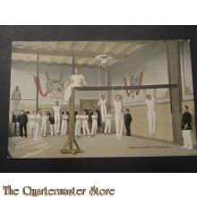 Prent briefkaart 1905 Gymnastische oefeningen