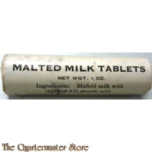 Wrapper with malted Milk tablets