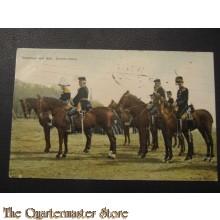 Prent briefkaart 1905 Generaal met Staf, groote tenue