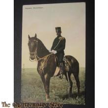 Prent briefkaart 1905 Kapitein klein tenue