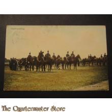 Prent briefklaart 1905 Parade opstelling