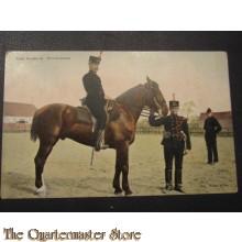Prent briefkaart 1905 Veld Artillerist Groote tenue