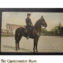 Prent briefkaart 1905 Wachtmeester groot tenue
