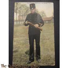 Prent briefkaart 1905 Complete batterij