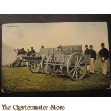 Prent briefkaart 1905 Vuuroefening