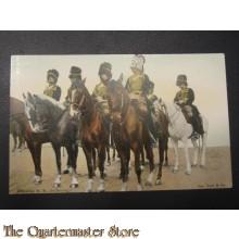 Prent briefkaart 1905 Afdeling R.A. (bediening)