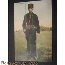 Prent briefkaart 1904 Op Schildwacht