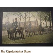Prent briefkaart 1905 Den cavalerie met bewapening