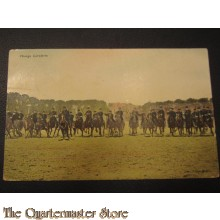 Prent briefkaart 1905 Charge Cavalerie