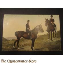 Prent briefkaart 1905 Wachtmeester daagsche tenue Korporaal Marechausse