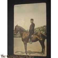 Prent briefkaart 1905 1e luitenant , klein tenue