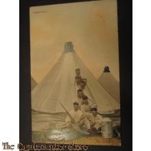 Prent briefkaart 1905 Kamp Idylle