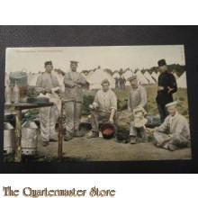 Prent briefkaart 1905 Schoonmaken Keuken materiaal