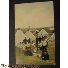Prent briefkaart 1905 het Kampleven