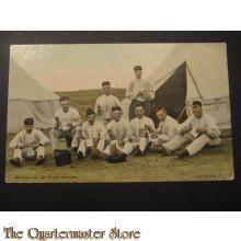 Prent briefkaart 1905 middagmaal, de bruine boontjes