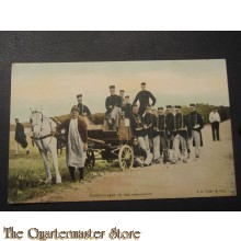Prent briefkaart 1905 Cantinewagen bij een manouvre