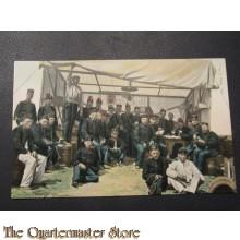 Prent briefkaart 1905 infanterie in het kamp